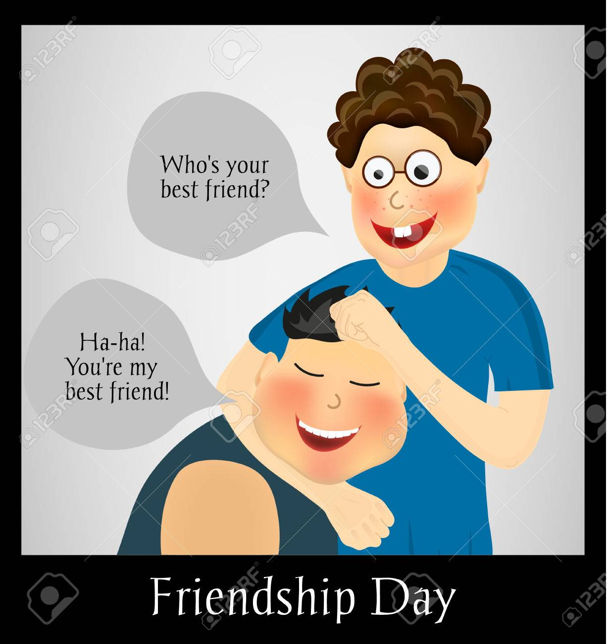 Friendship Day International Holiday Two Best Friends Funny