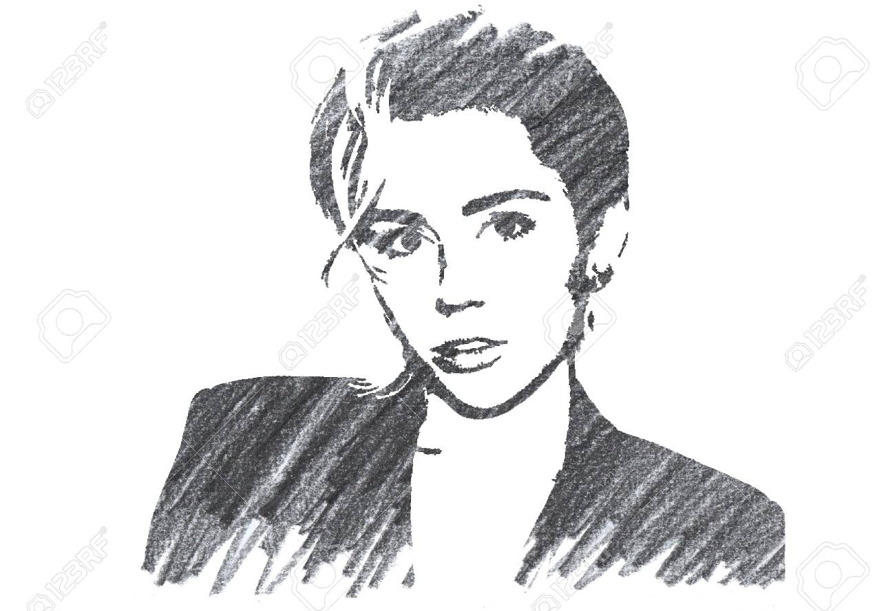 Pencil Illustration Of Miley Cyrus Stock Photo Picture And Royalty Free Image Image 126535600