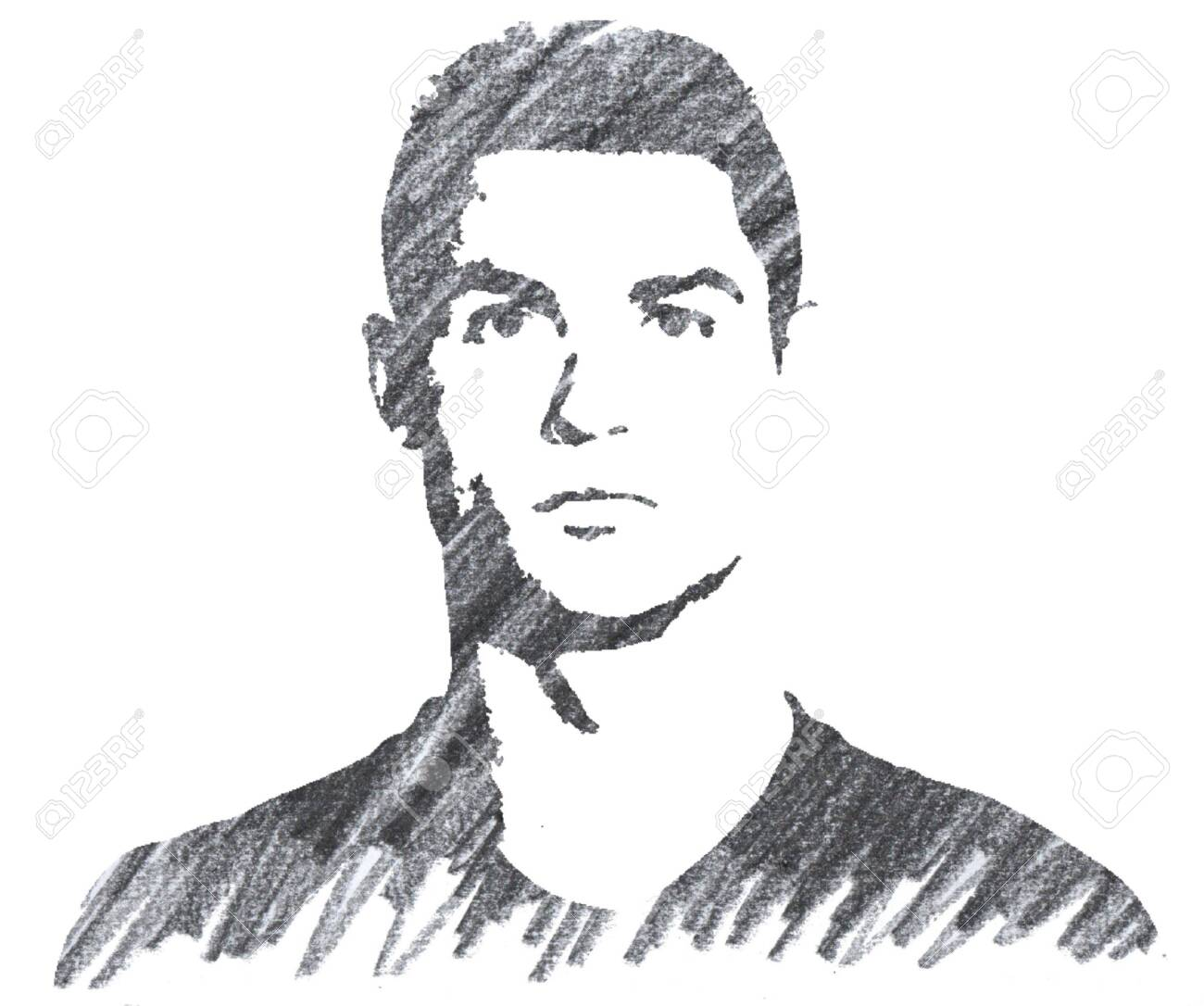 Cristiano Ronaldo Editorial Pencil Drawing Stock Photo Picture And Royalty Free Image Image 137710390