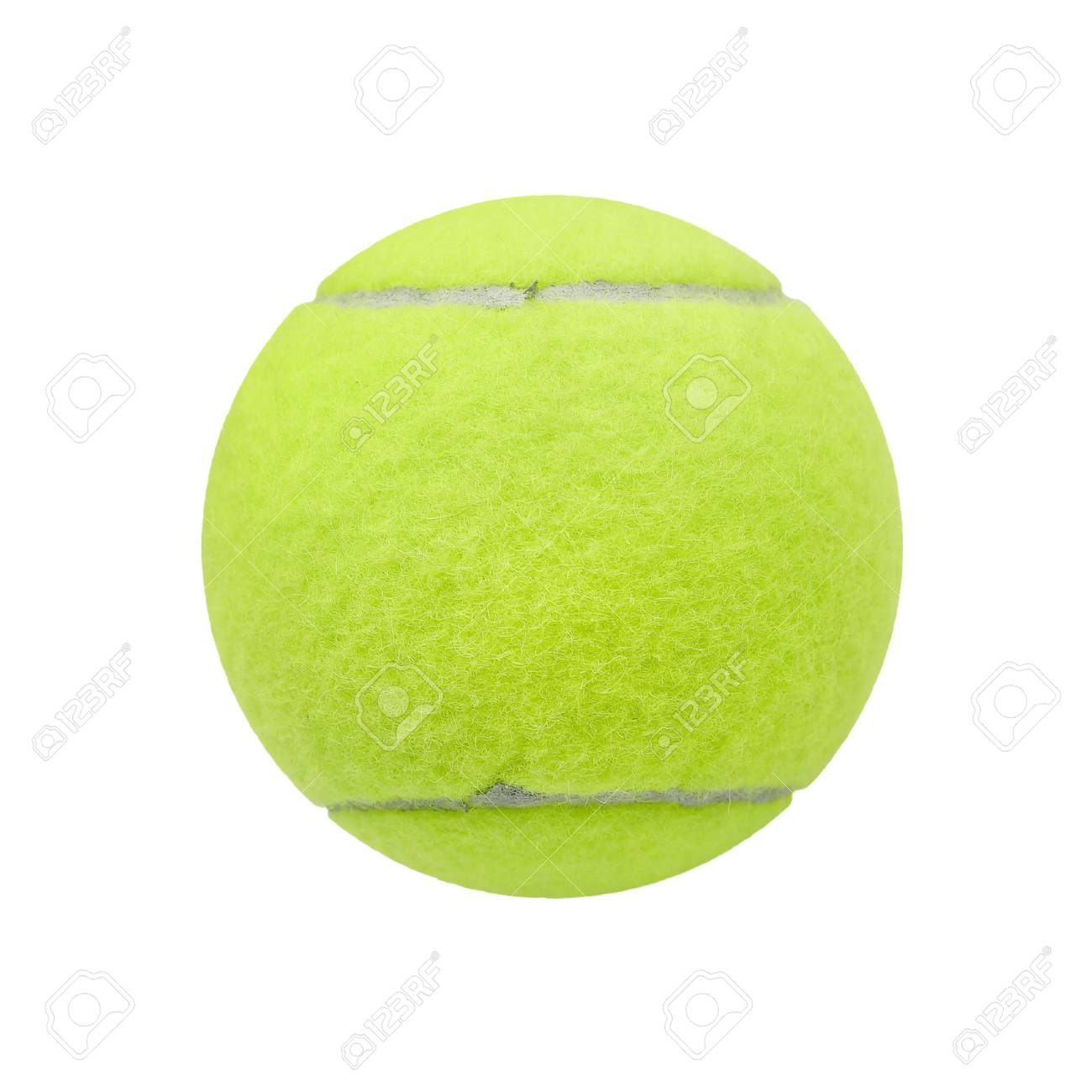 Exotic Yellow Color Tennis Ball Isolated On White Background Stock