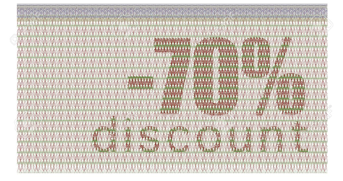 discount coupon -70% with the guilloche protection Stock Vector - 11835897