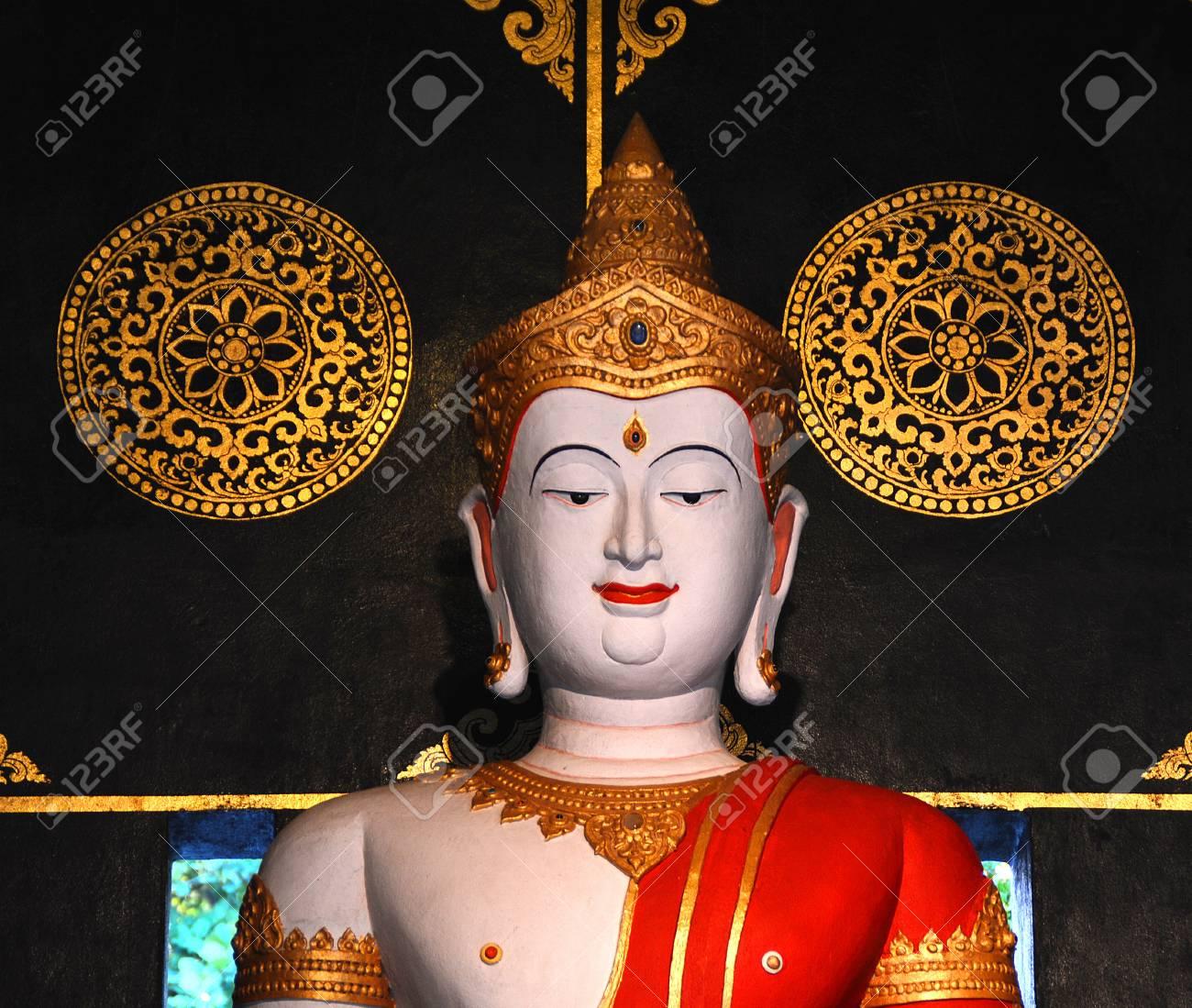 Buddha images , Close up face of white buddha, Thailand ,Asia Stock Photo - 18316692