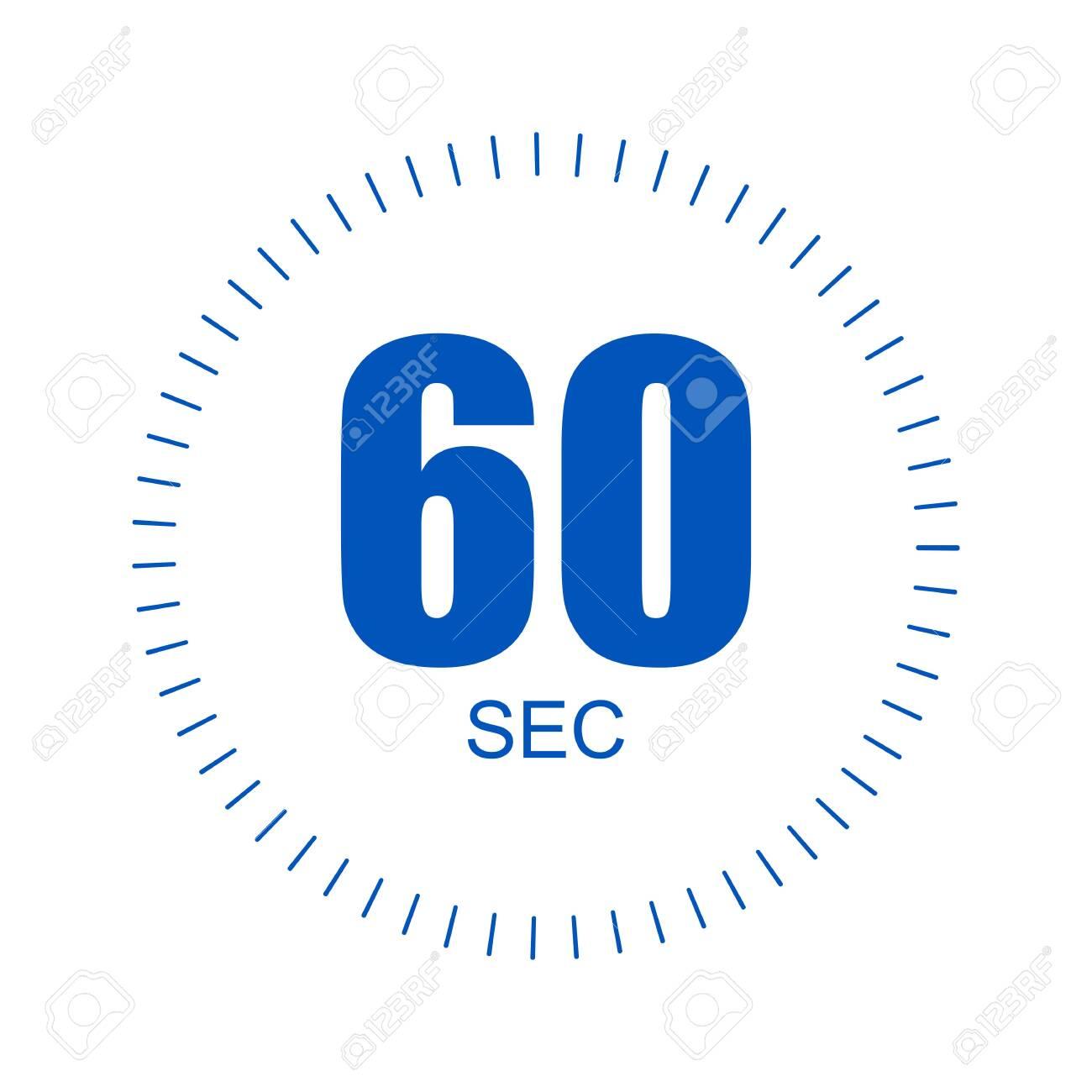 60 second time design over white background, vector illustration. EPS 10 - 155619298