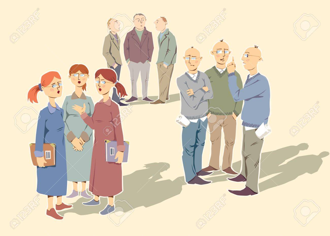 Very alike people (the colleagues or a friends) are discussing something important. Stock Vector - 10222451