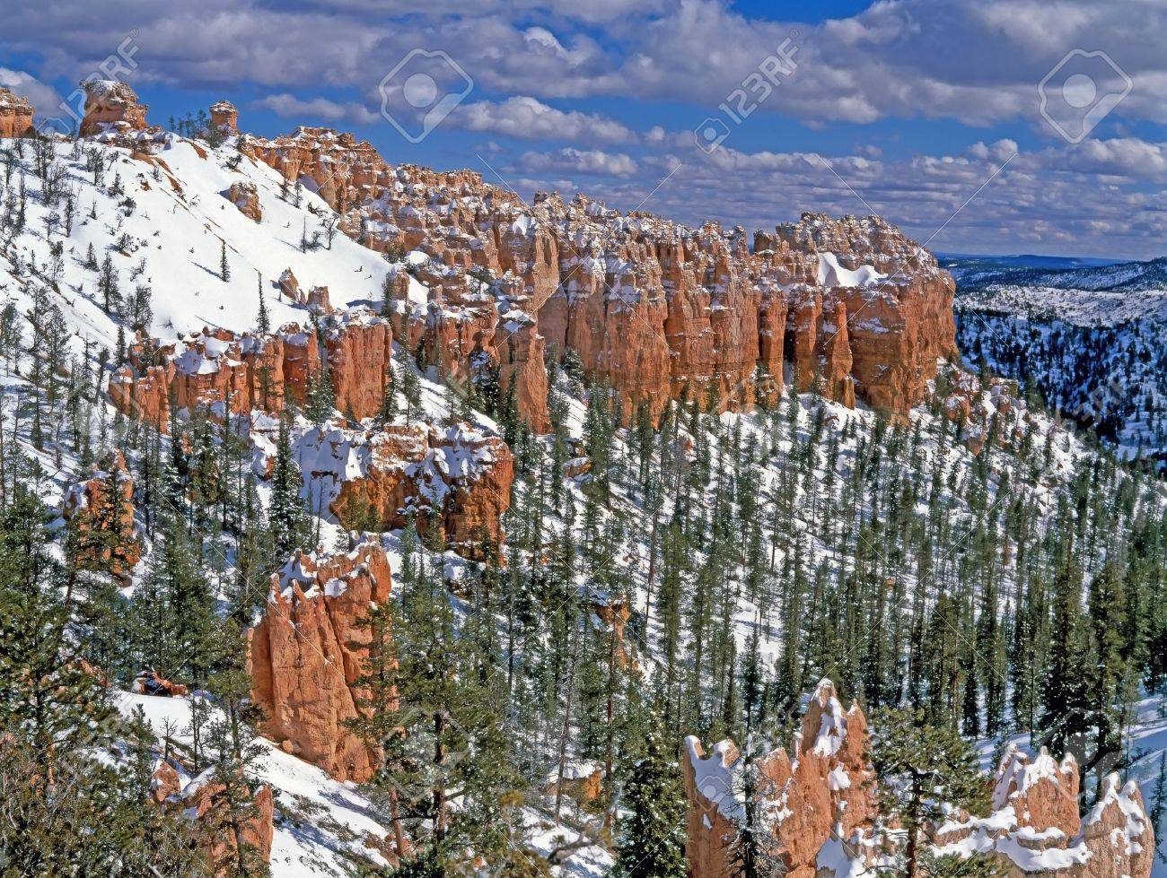 Panoramic view on Bryce canyon national park in winter sunny day Stock Photo - 5374355