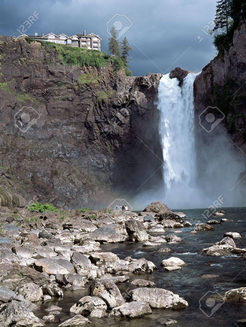 Snoqualmie Falls attraction east of Seattle Washington State USA Stock Photo - 11744325