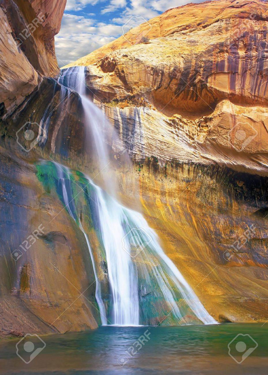 Lower Calf Creek Falls Grand Staircase Escalante National Monument Stock Photo Picture And Royalty Free Image Image 11744556