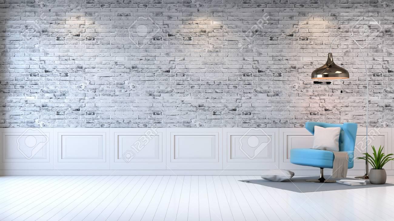 Moderner dachbodeninnenraum wohnzimmer weißer holzfußboden