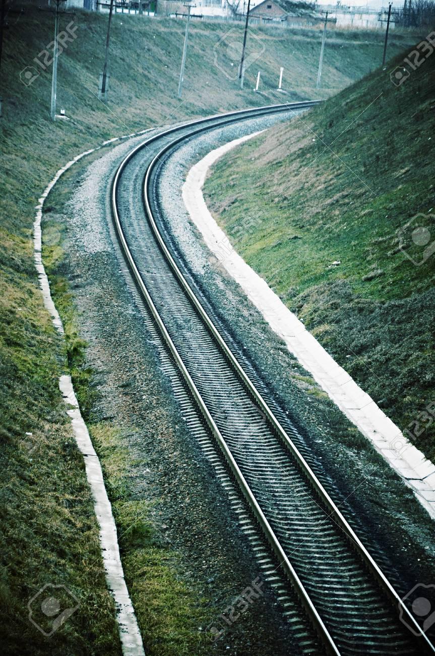 Eisenbahn Bett Zu Verlassen Fur Wiederum In Einer Umgebung Von