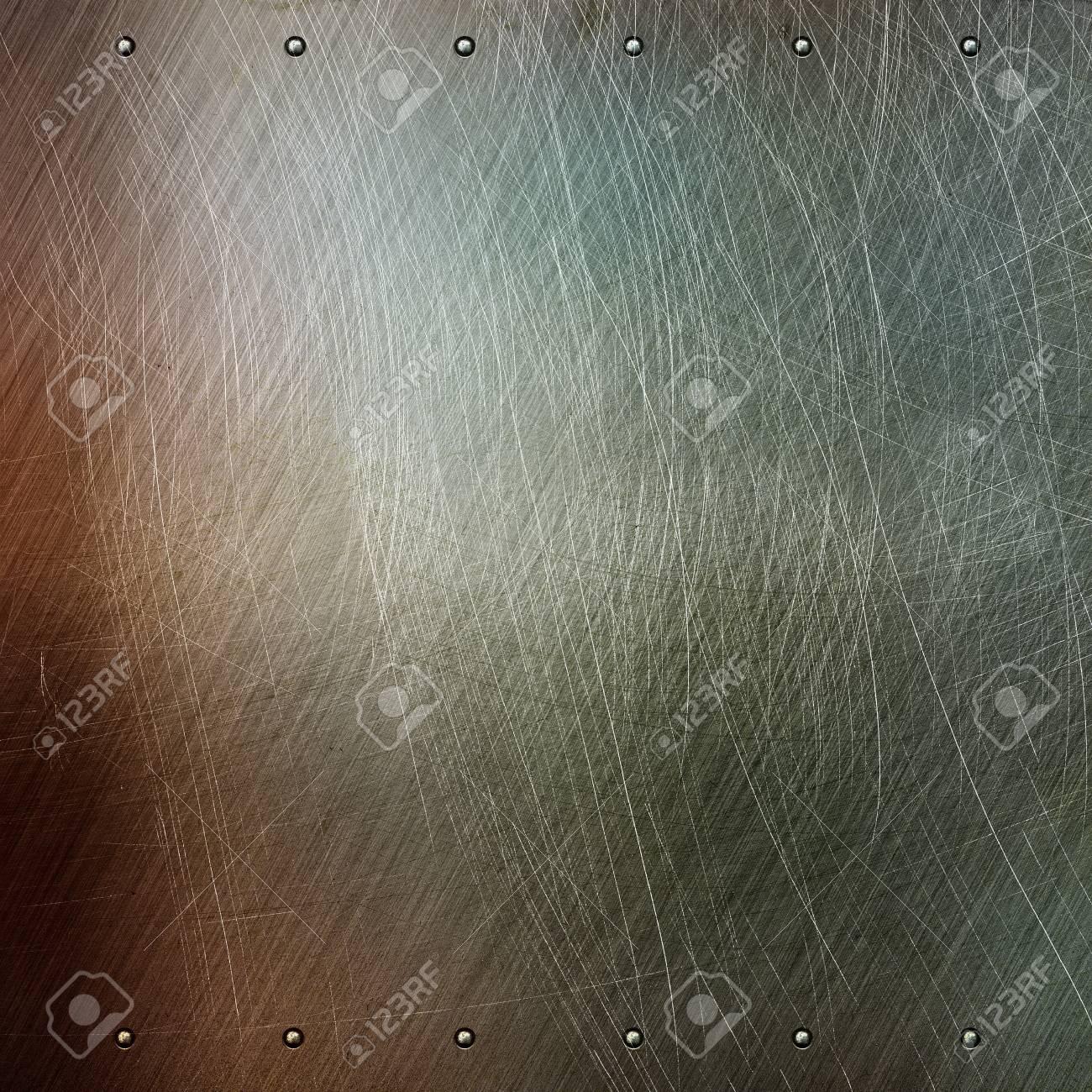 Brushed metal texture, grunge background Stock Photo - 15694934
