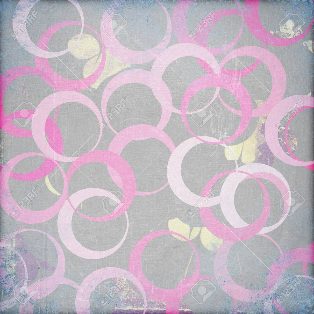 grunge retro paper texture, abstract  circles background Stock Photo - 16939352