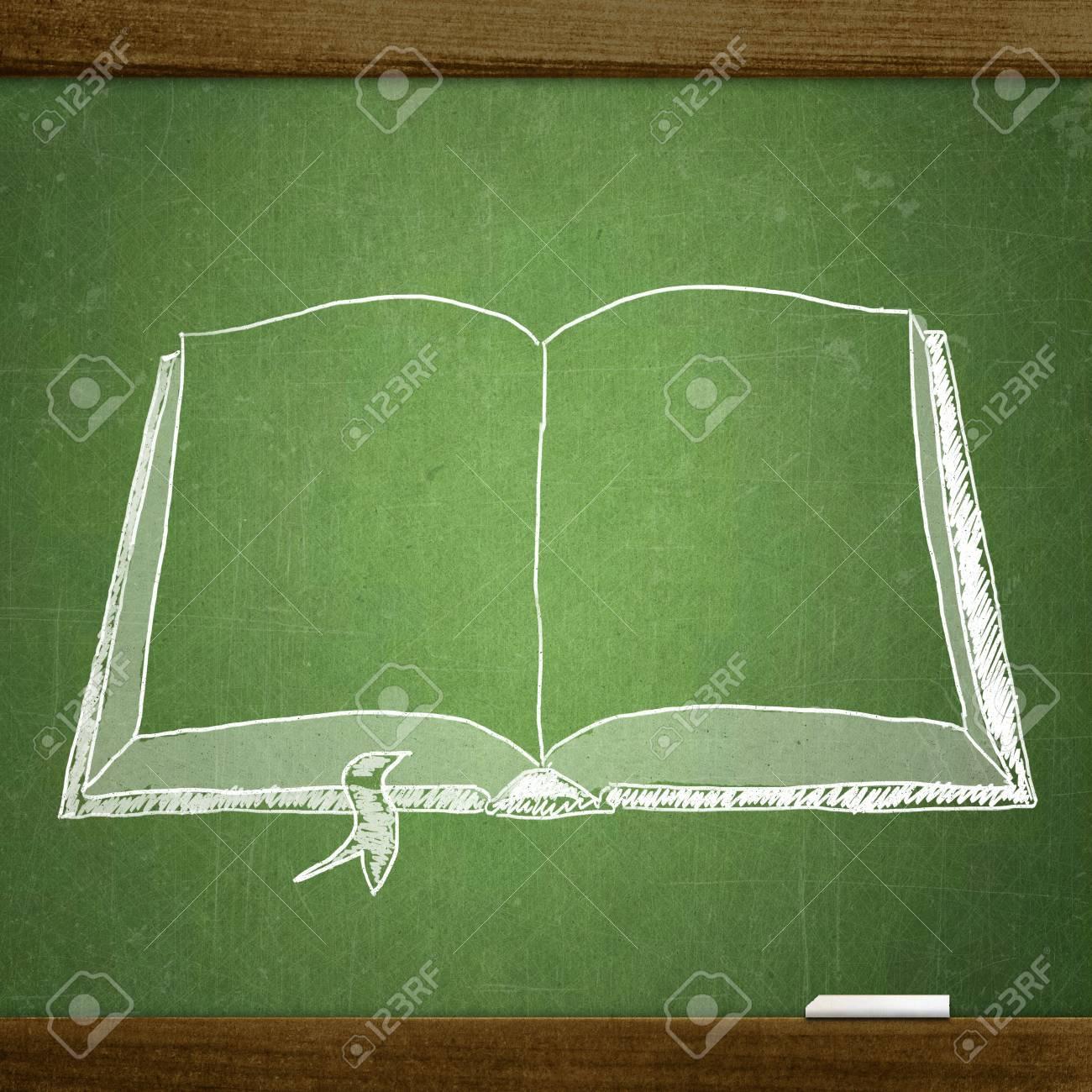 Croquis De L Ecole Sur Le Tableau Noir Livre Banque D Images Et