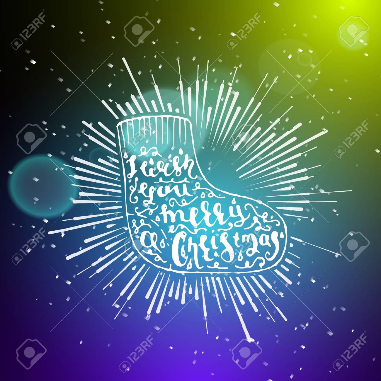 Zeigen Hintergrund. Frohe Weihnachten Brush Script Art-Handschrift ...