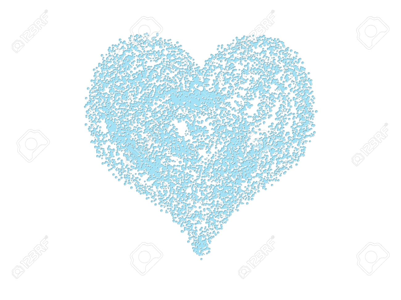 Blue heart  on white  background Stock Photo - 7520862