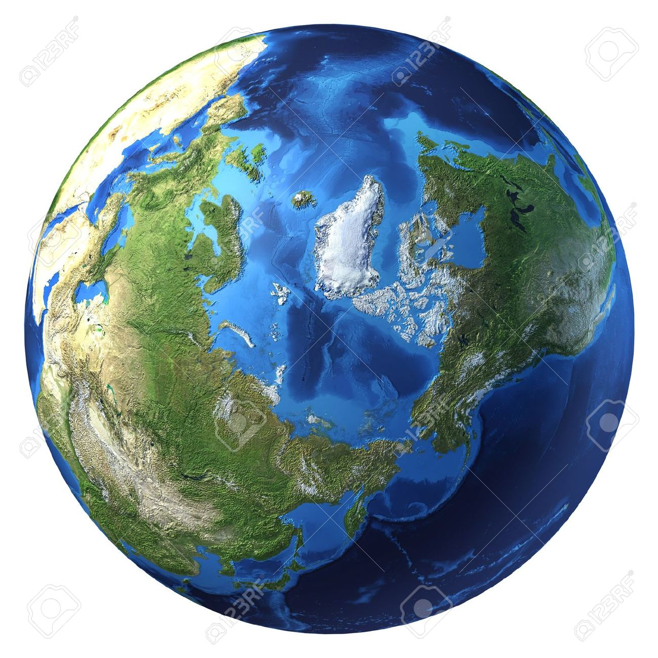 Earth globe realistic 3 d rendering arctic view north pole earth globe realistic 3 d rendering arctic view north pole on gumiabroncs Choice Image