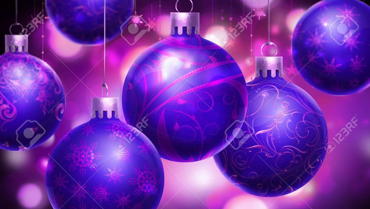 Marvelous Boule De Noel Violette #12: Noël Fond Violet Abstrait Avec ...