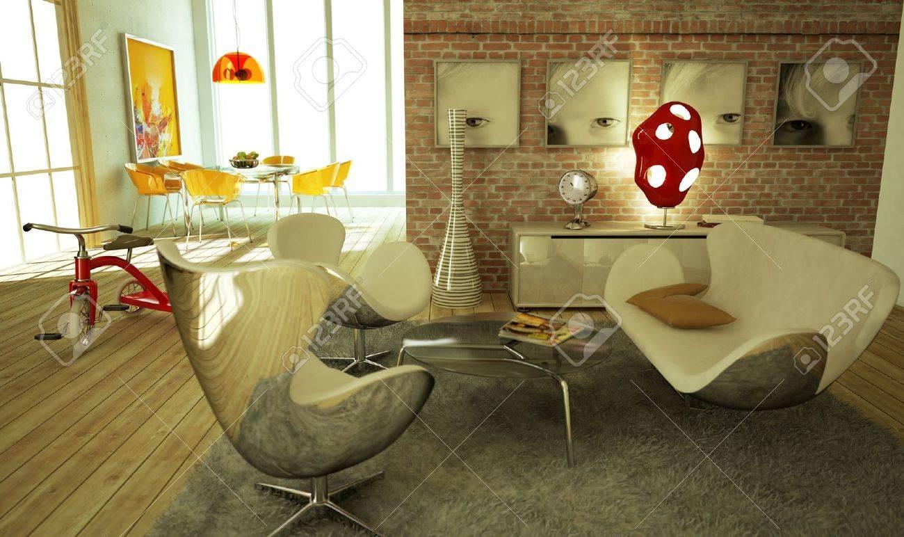 moderne wohnzimmer warme atmosphare sehr stilvoll mit holzboden und eine erneute tricicle auf