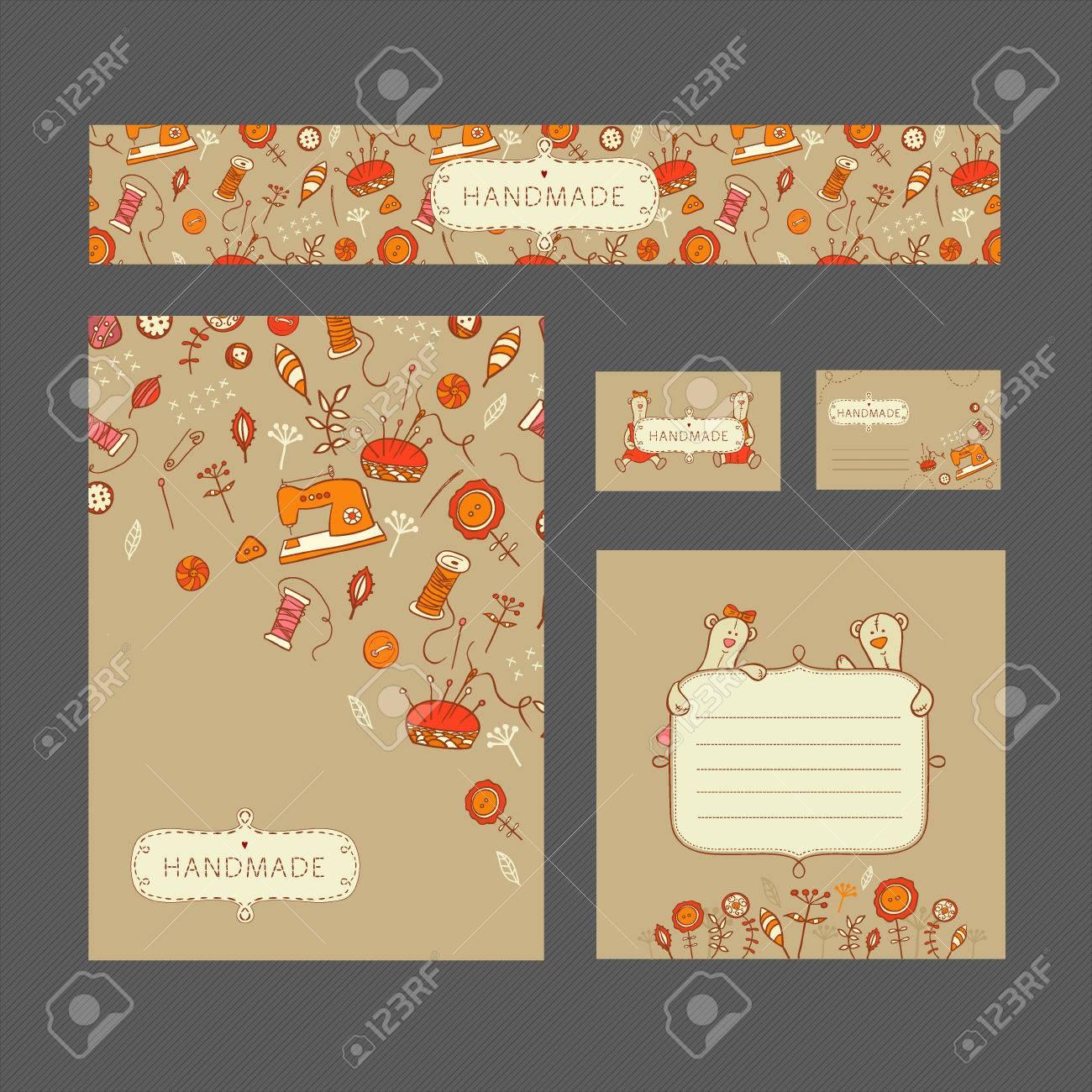 Vector Editable Identity Template With Banner Visit Card Postcard - Editable postcard template