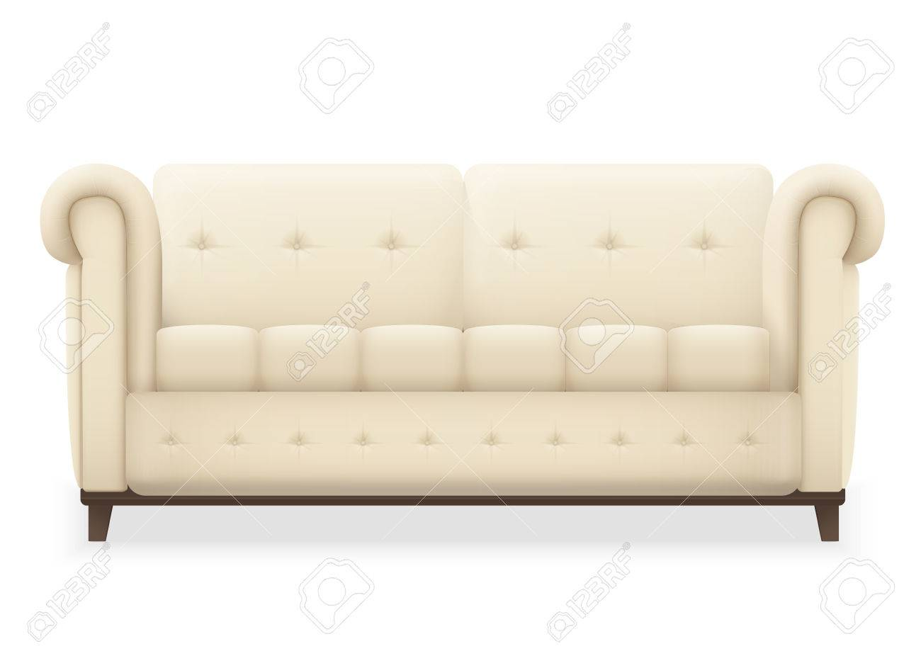 Leather Luxury Modern Vintage Living Room Sofa. Single Isolated.. Royalty Free Cliparts, Vectors, And Stock Illustration. Image 59889901.