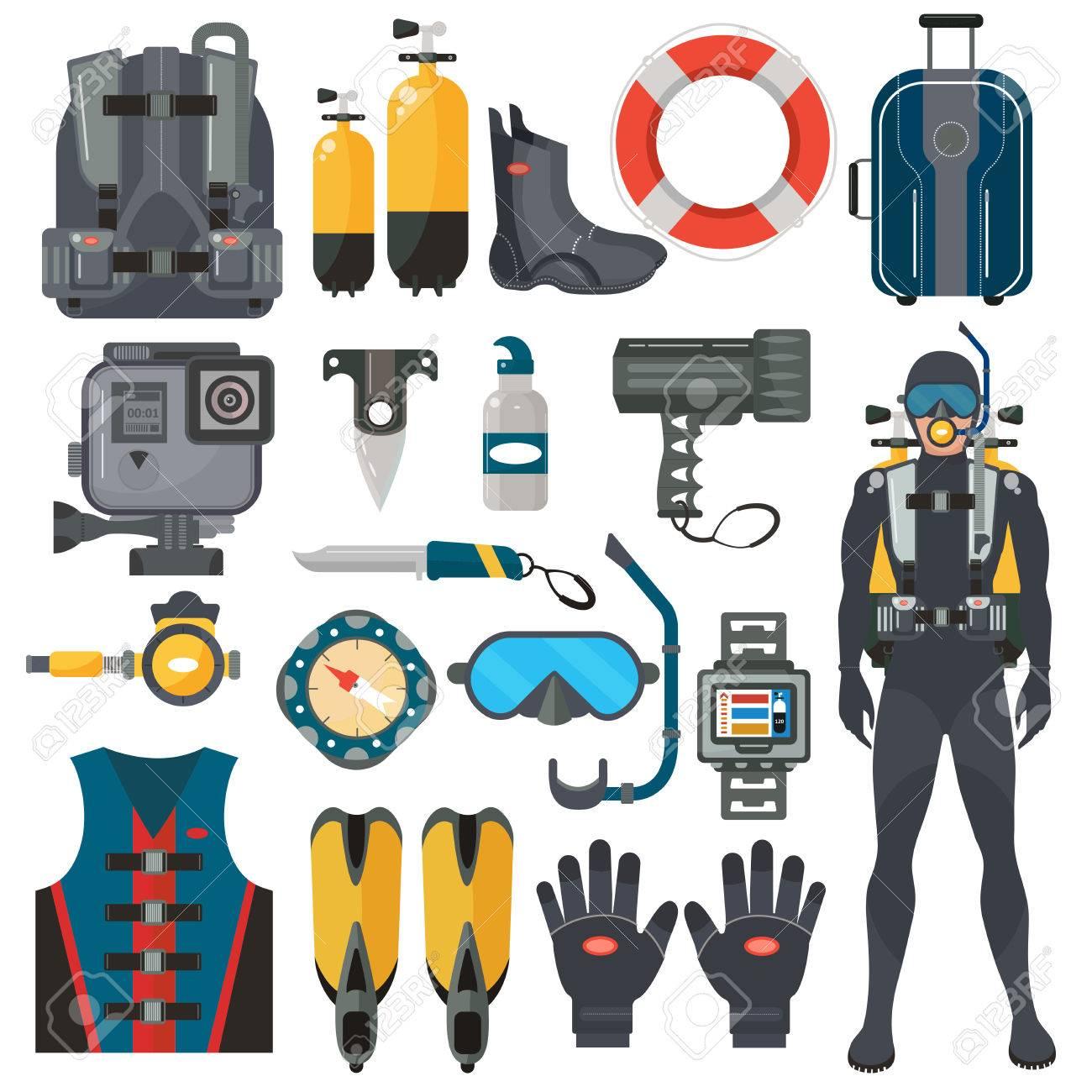 beauté qualité et quantité assurées sur des coups de pieds de Plongée accessoires de matériel de plongée collection. Diver homme en  combinaison sous-marine. la chasse sous-marine et le sport de natation