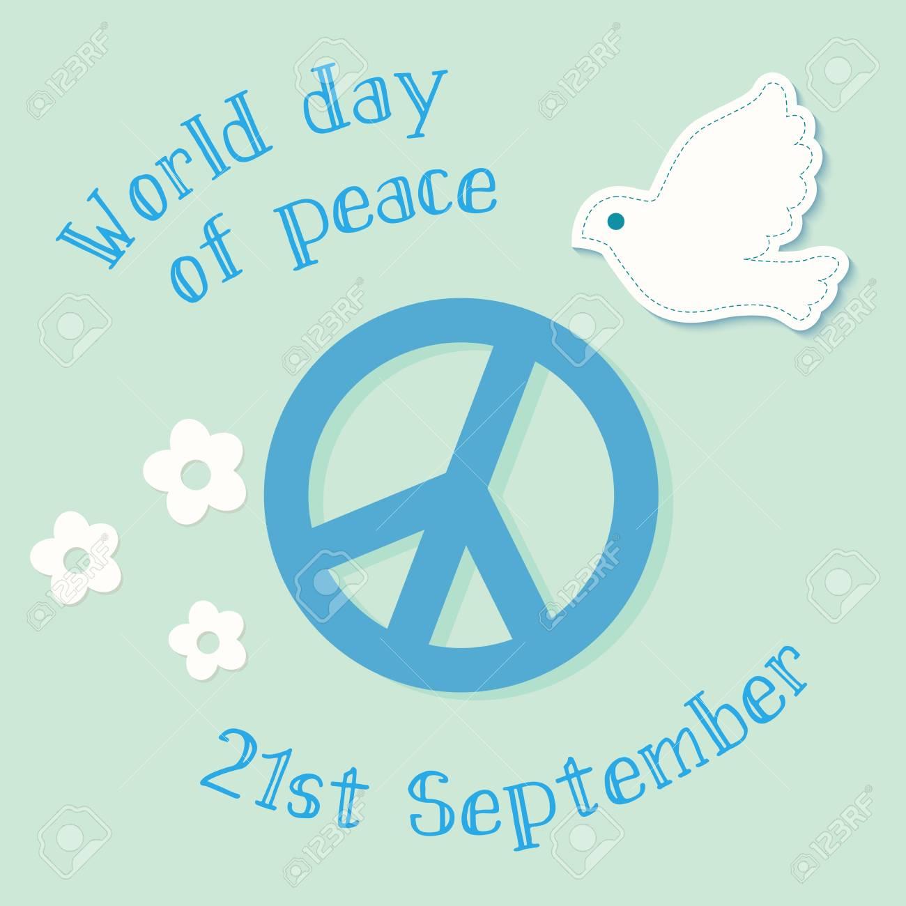 国際平和デーのシンボル イラス...