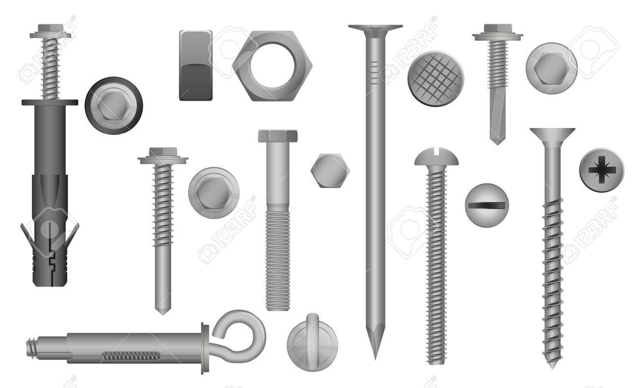 66437812-construction-hardware-set-bolts-screws-nuts-and-rivets-vector-illustration-of-metal-fix-gear-element La única regla que necesitas para escribir mejor