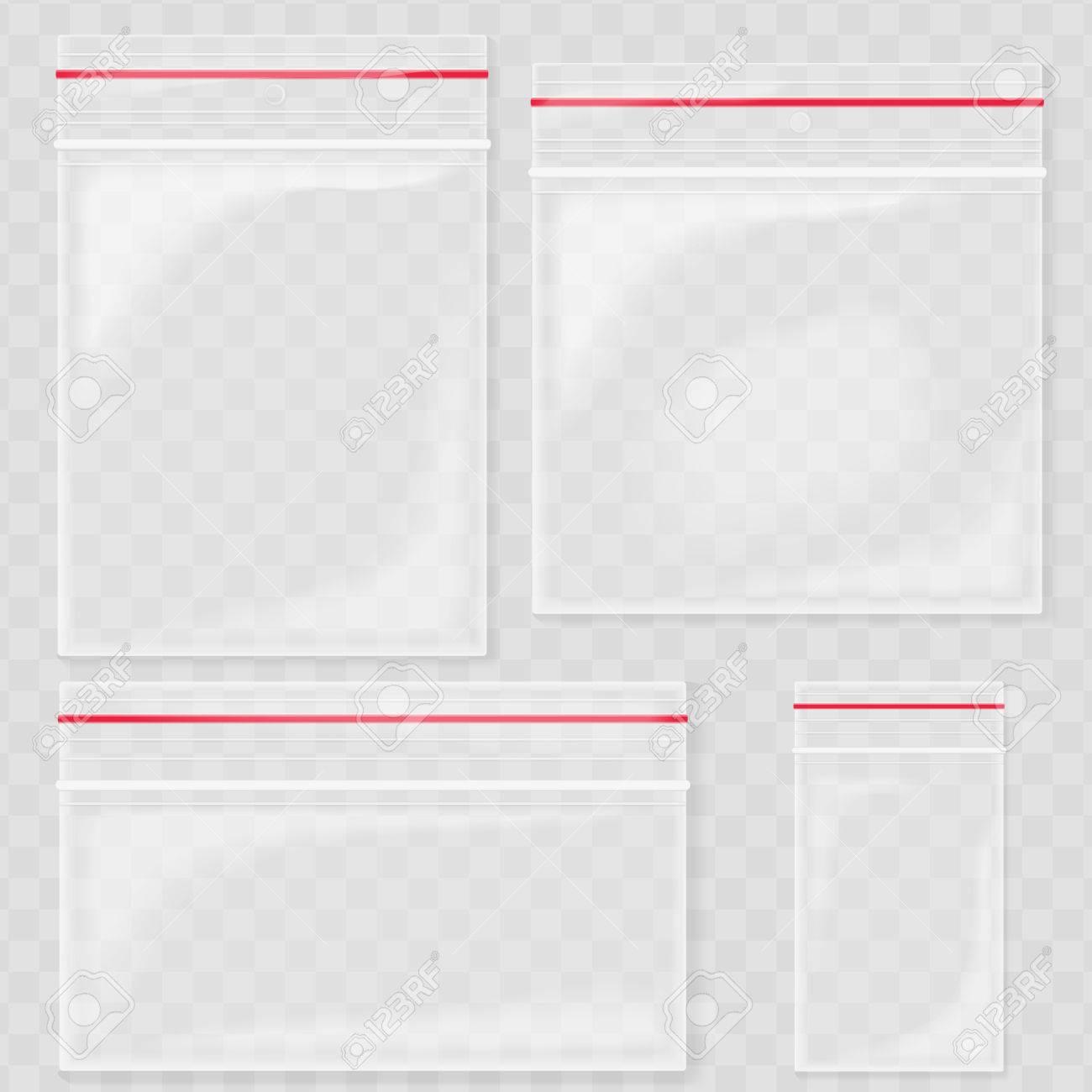 Leere Transparente Plastiktasche Taschen Blank Vakuum