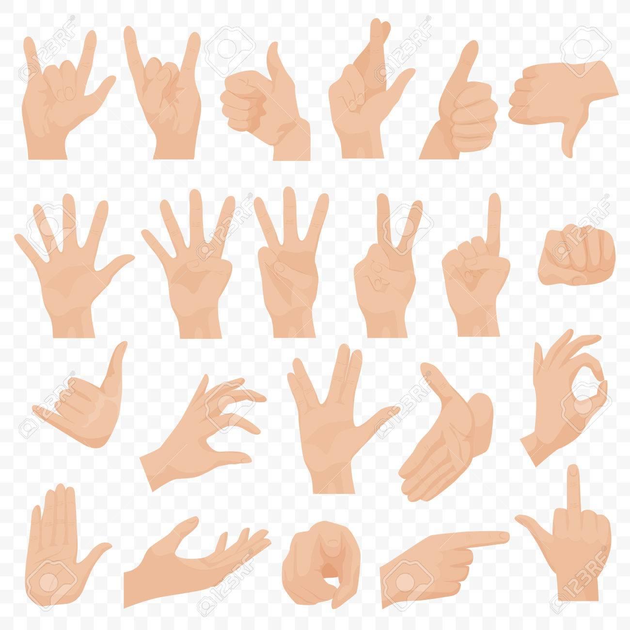 Realistic human hands icons and symbols set emoji hand icons realistic human hands icons and symbols set emoji hand icons different gestures hands biocorpaavc