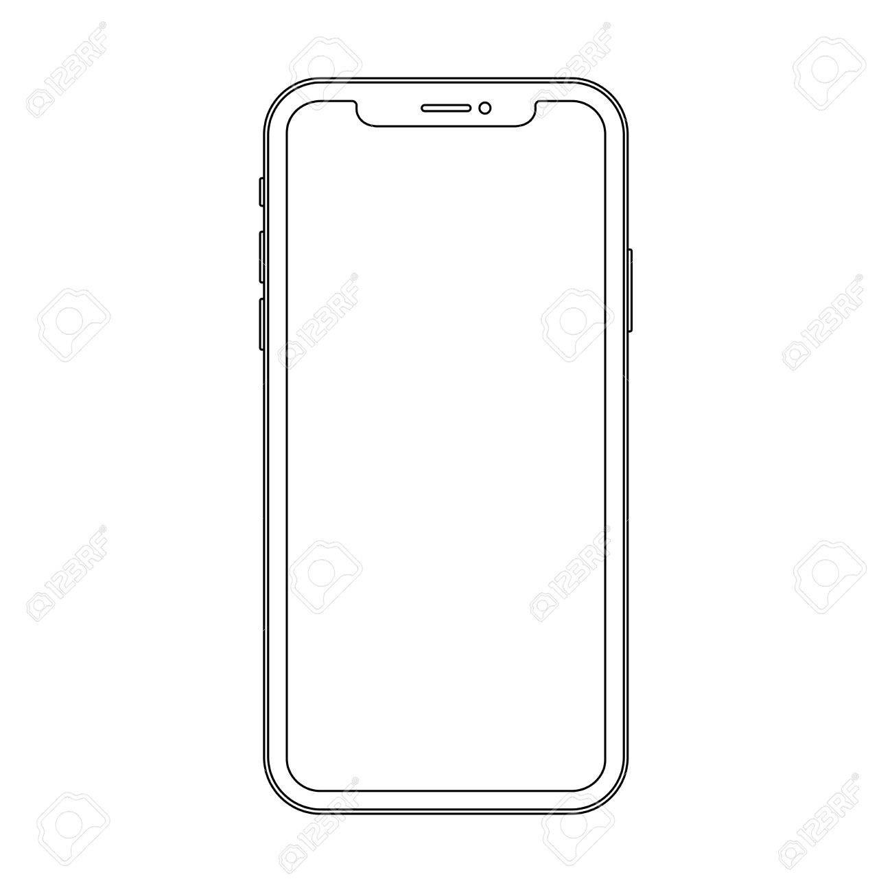 Dibujos De Telefonos Modernos