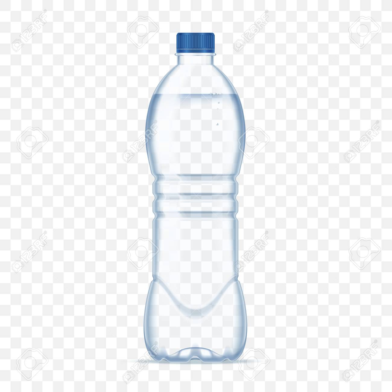 Plastic Bottle With Mineral Water Alpha Transparent Background