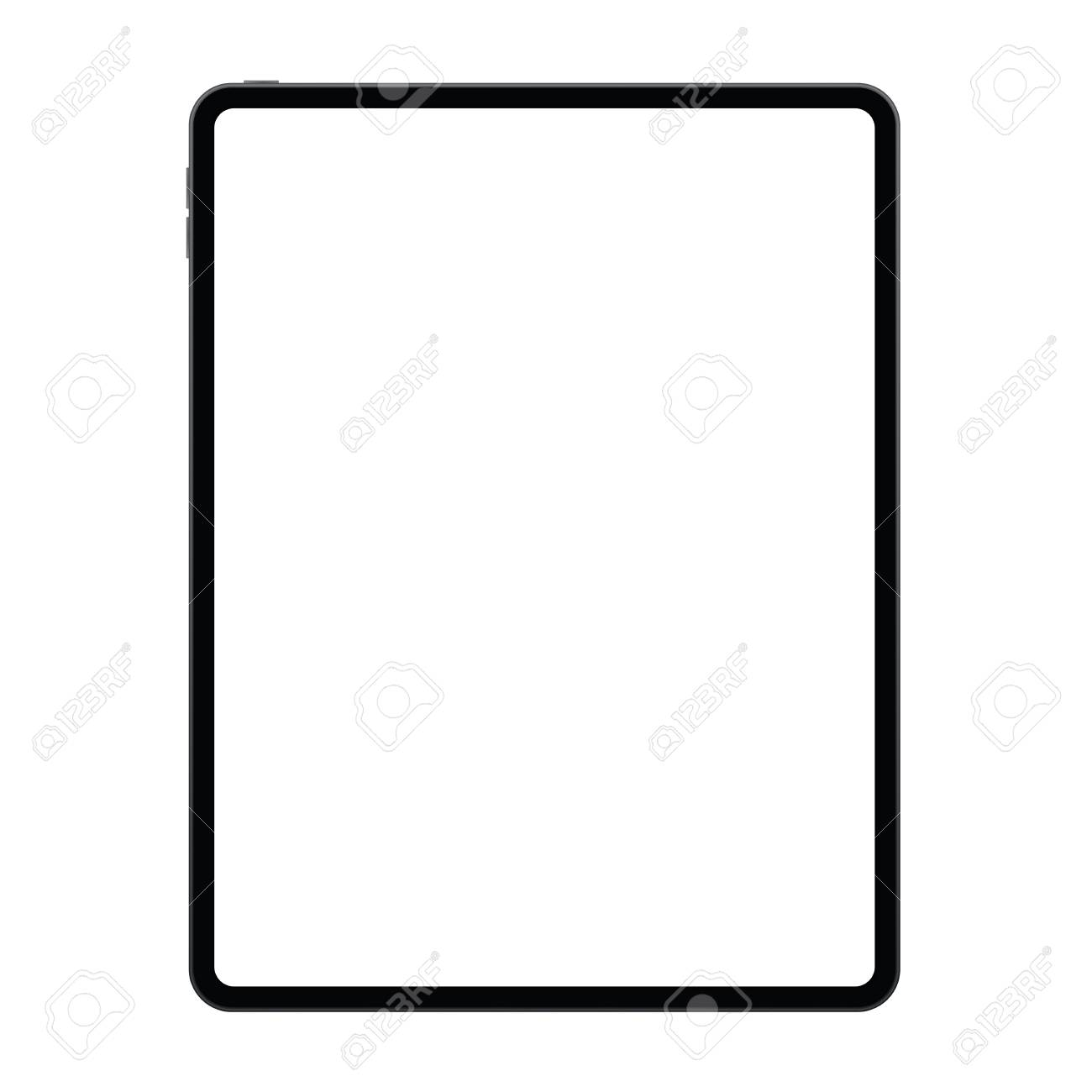 New Version Of Tablet In Trendy Thin Frames Design. Stock Vector   112693350