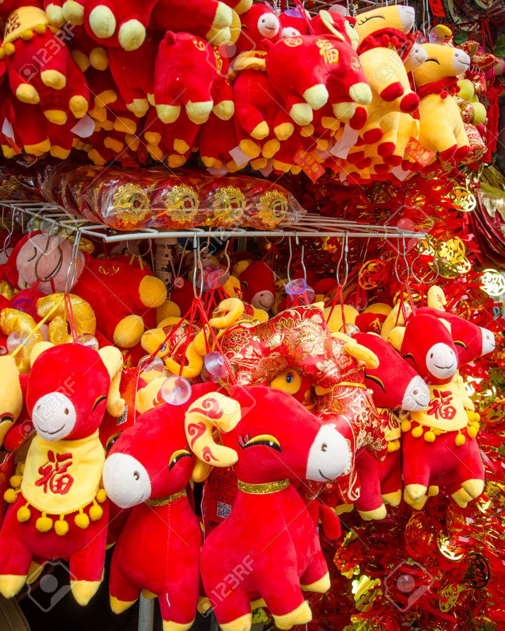 colorful year of the ram stuffed animals celebrate chinese new year stock photo 39268997 - How To Celebrate Chinese New Year