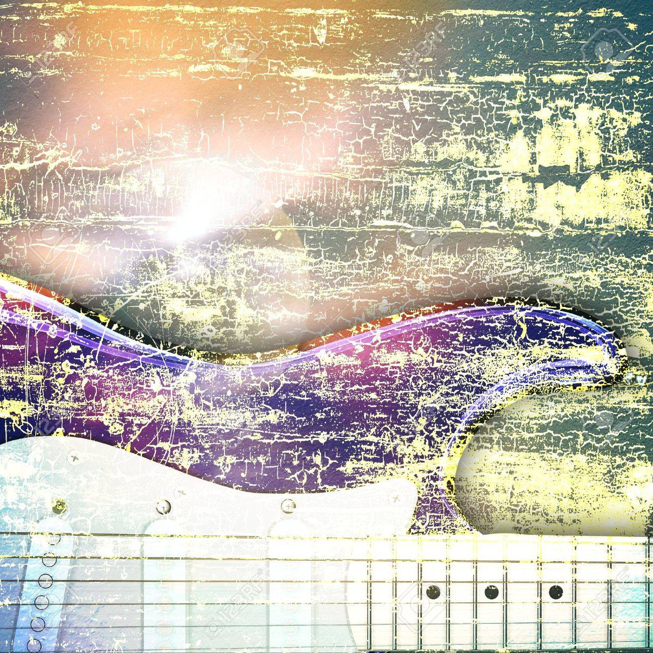 abstract jazz rock background musical instruments Stock Photo - 6847342