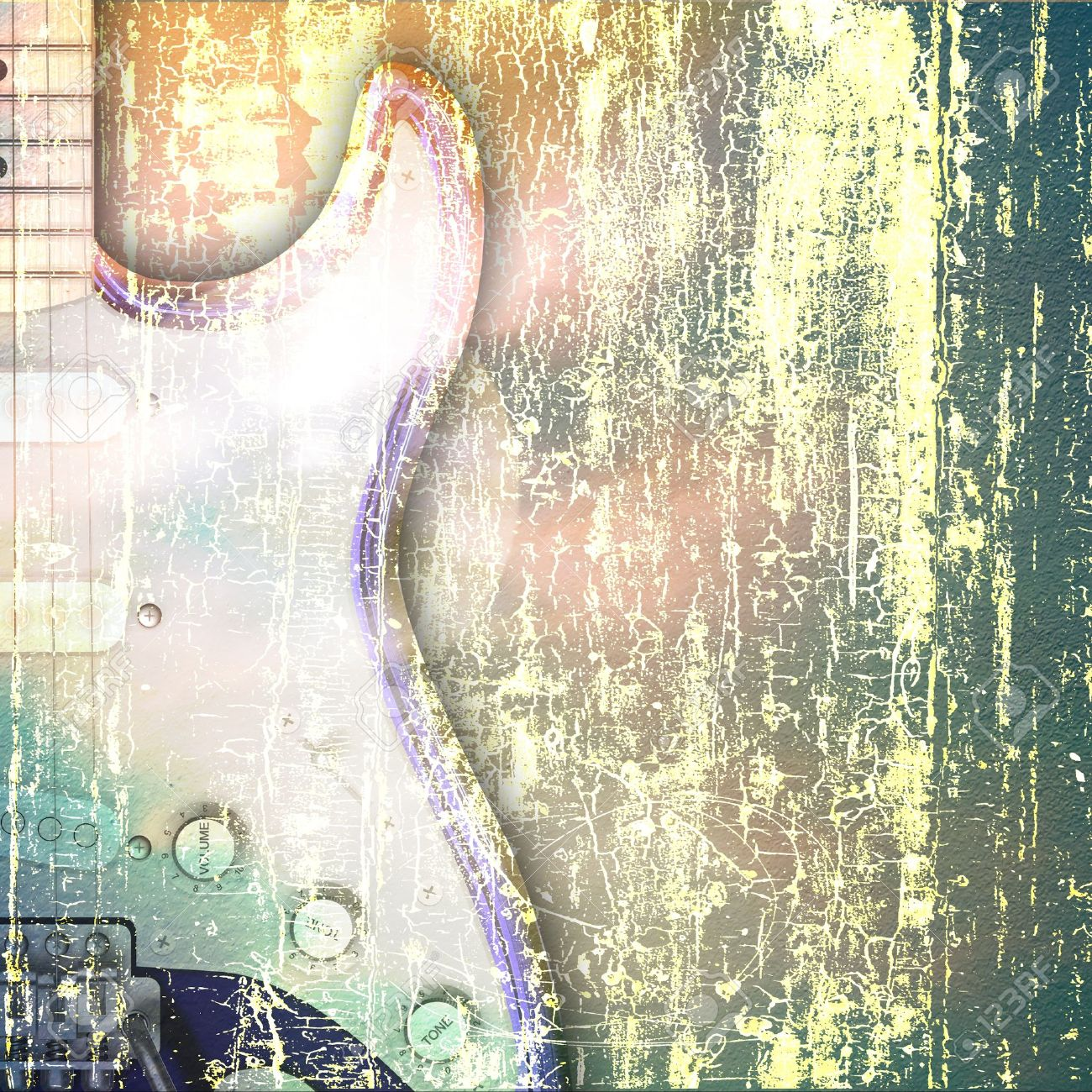 Abstract Jazz Rock Background Musical Instruments Stock Photo ...