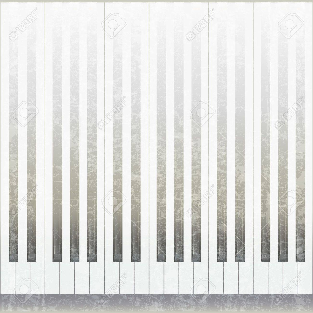 abstract grunge music background with piano on white Stock Vector - 9935691
