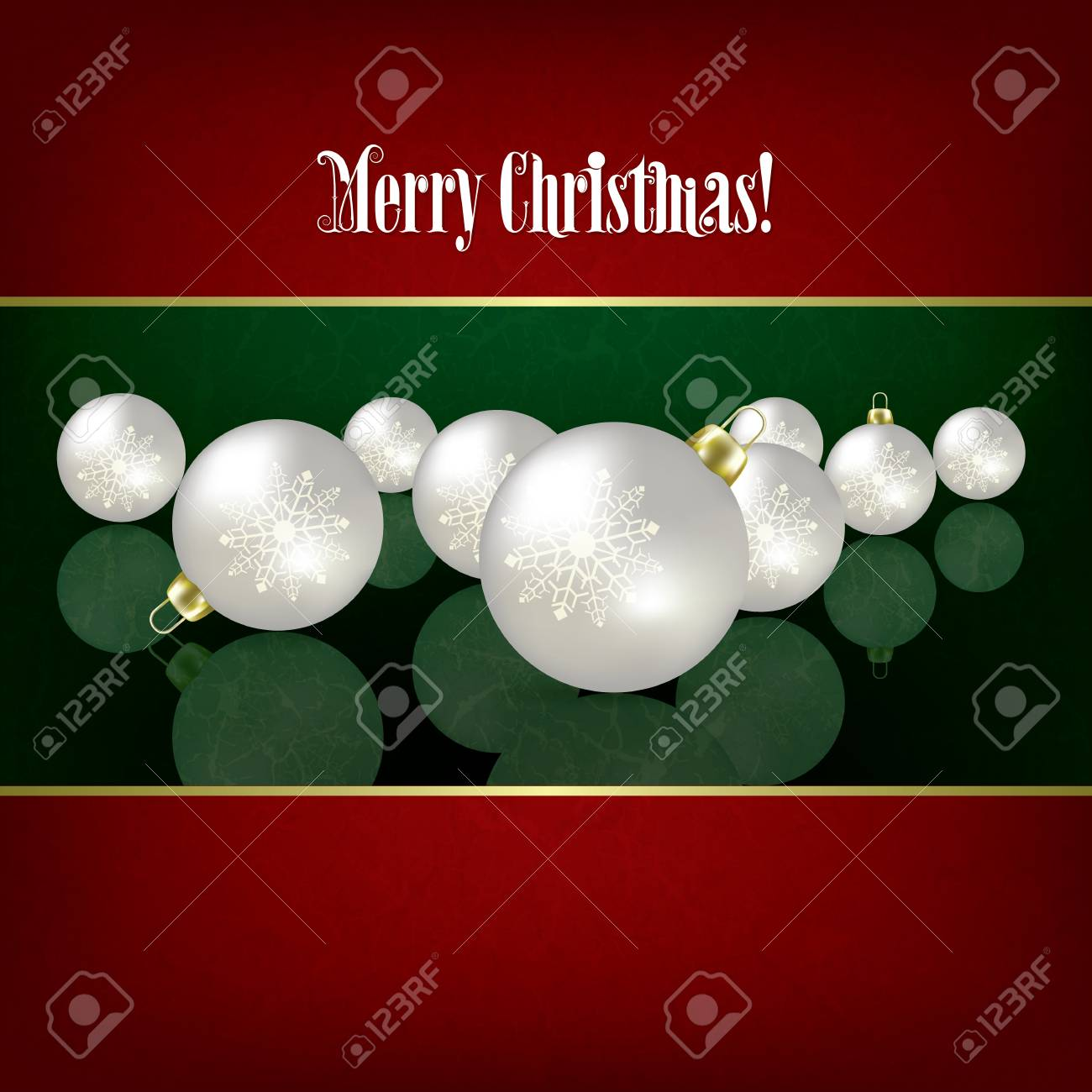 Christmas grunge background with white decorations on green Stock Vector - 15906682