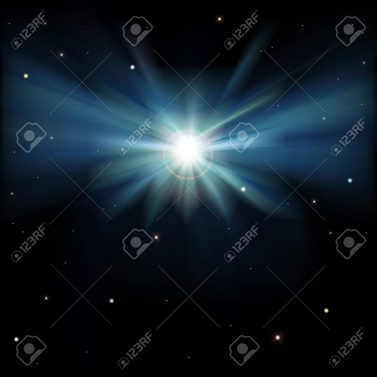 abstract space background with stars on black Stock Vector - 19254325