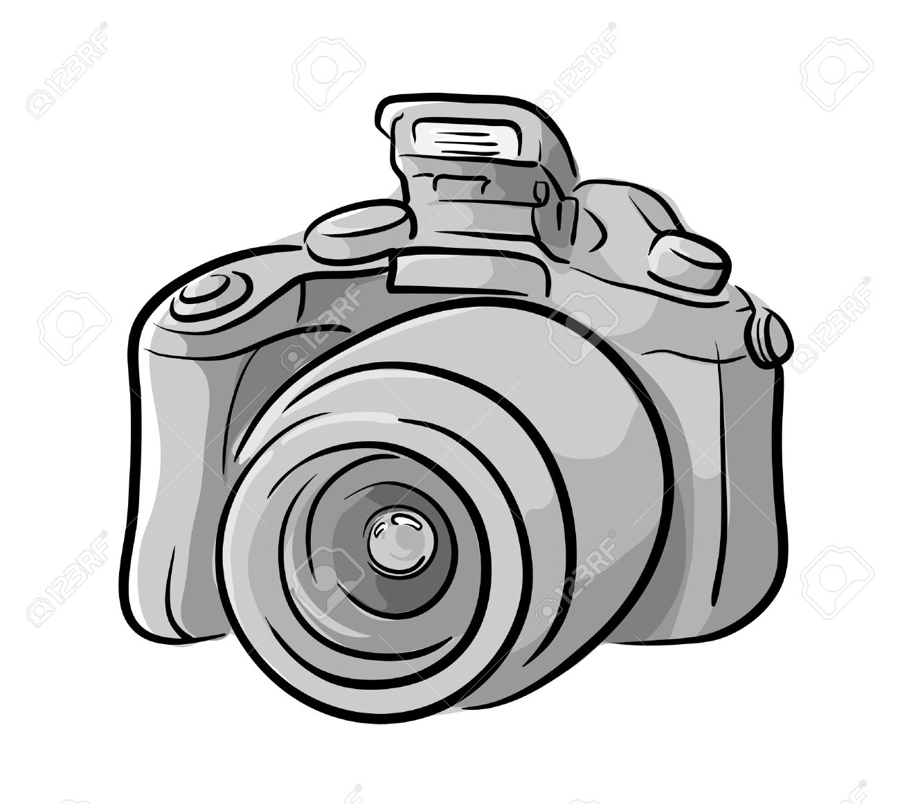 Dslr Camera A Hand Drawn Vector Illustration Of A Dslr Camera Royalty Free Cliparts Vectors And Stock Illustration Image 57608739