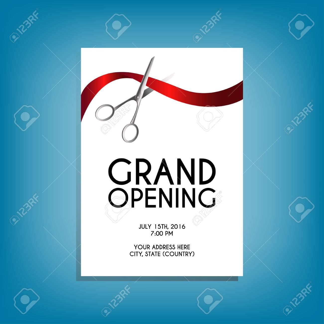 Free Grand Opening Flyer Template from previews.123rf.com