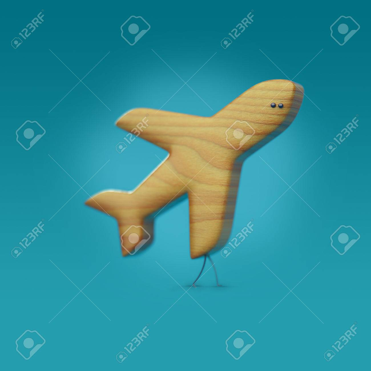 3d icon plane plane character with legs and eyes wooden texture 3d icon plane plane character with legs and eyes wooden texture aviamode stock biocorpaavc Gallery