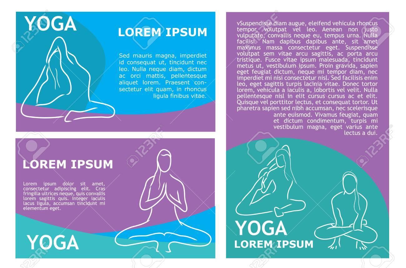 Yoga Flyer Template. Vector Stock Illustration For Design Royalty ...