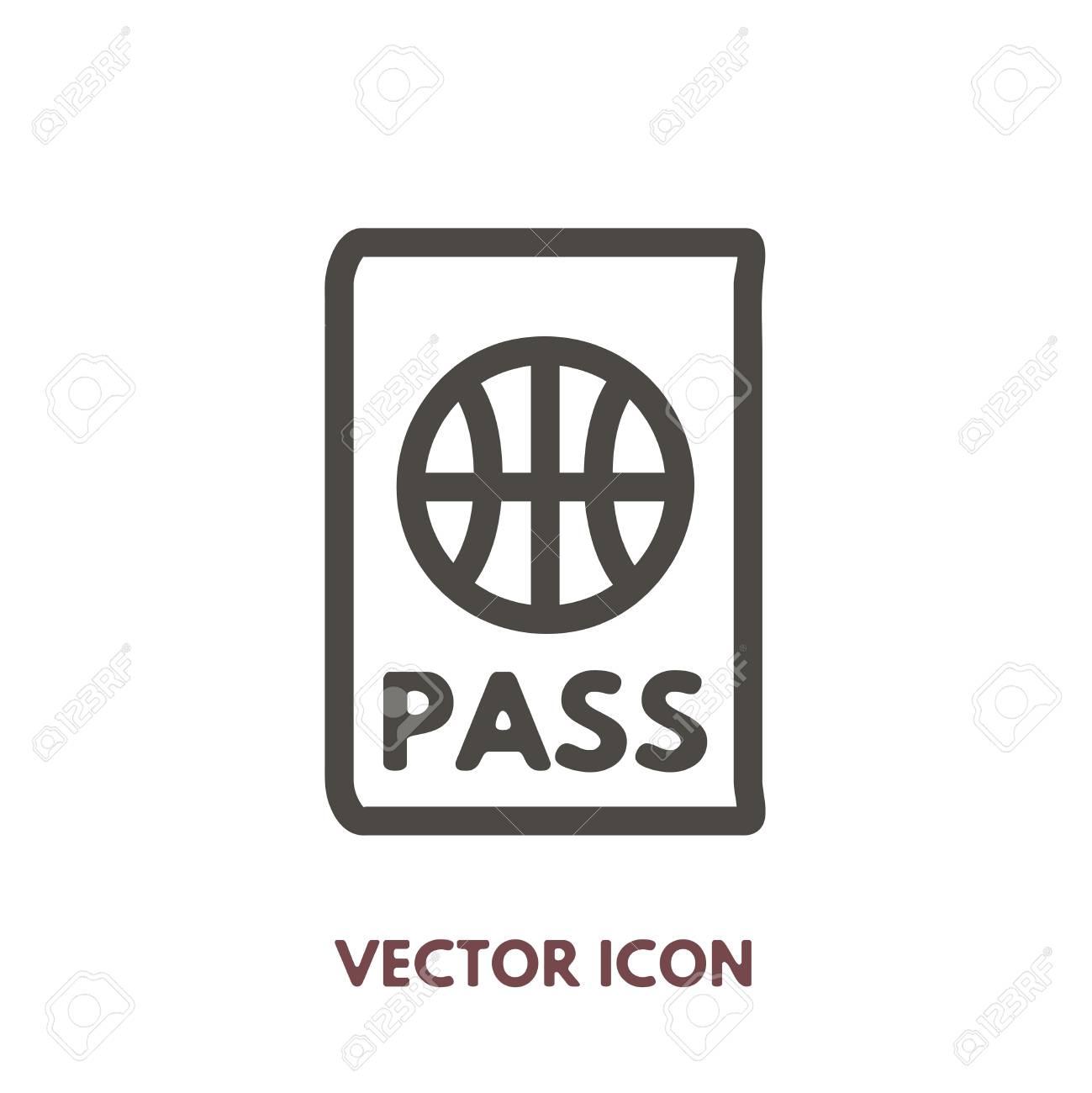 Vector doodle passport icon stock line symbol for design royalty stock line symbol for design stock vector 86962520 buycottarizona Image collections