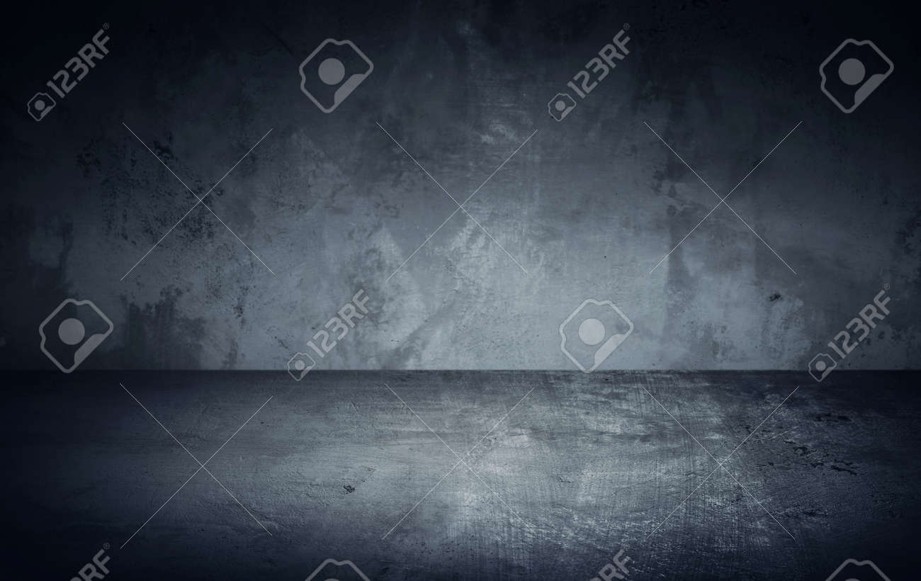 Dark room in beam of light with concrete wall and floor. Texture background image - 165820801