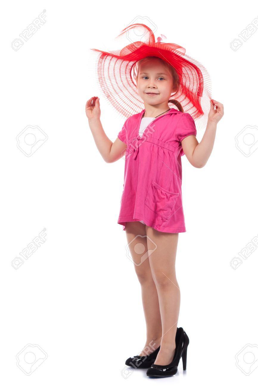 Girls Pink High Heel Shoes
