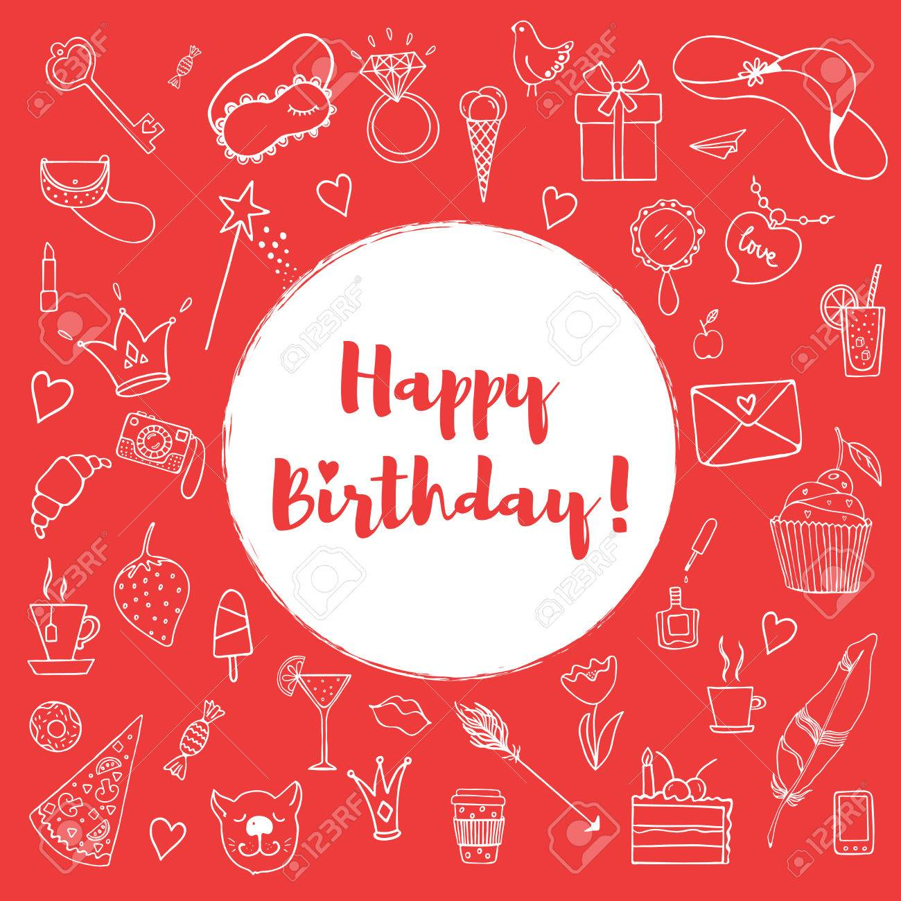 Doc500500 Happy Birthday Cards Templates Cartoon style Happy – Happy Birthday Card Template Free Download