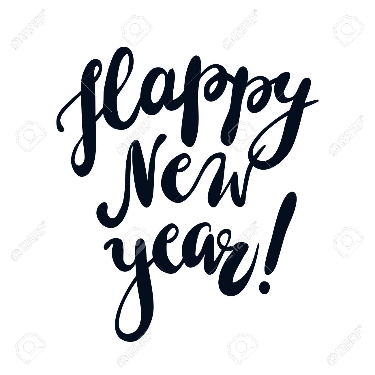 Happy New Year Lettering Design 12