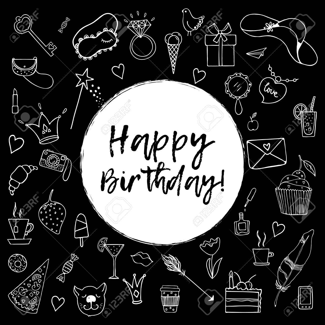 Black Happy Birthday Cards Roho 4senses Co