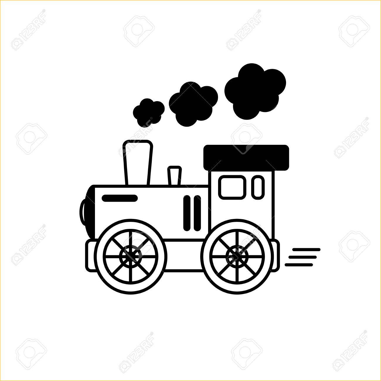 Line Drawn Engine Train Design Element Or Logo Royalty Free Cliparts Vectors And Stock Illustration Image 86727233