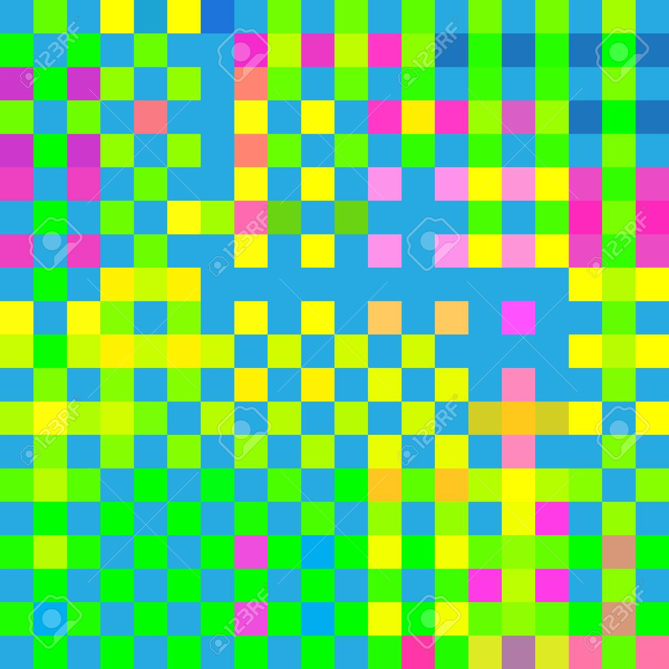 Abstract Mosaic Multicolor Checkered Background. Mosaic Tiles ...
