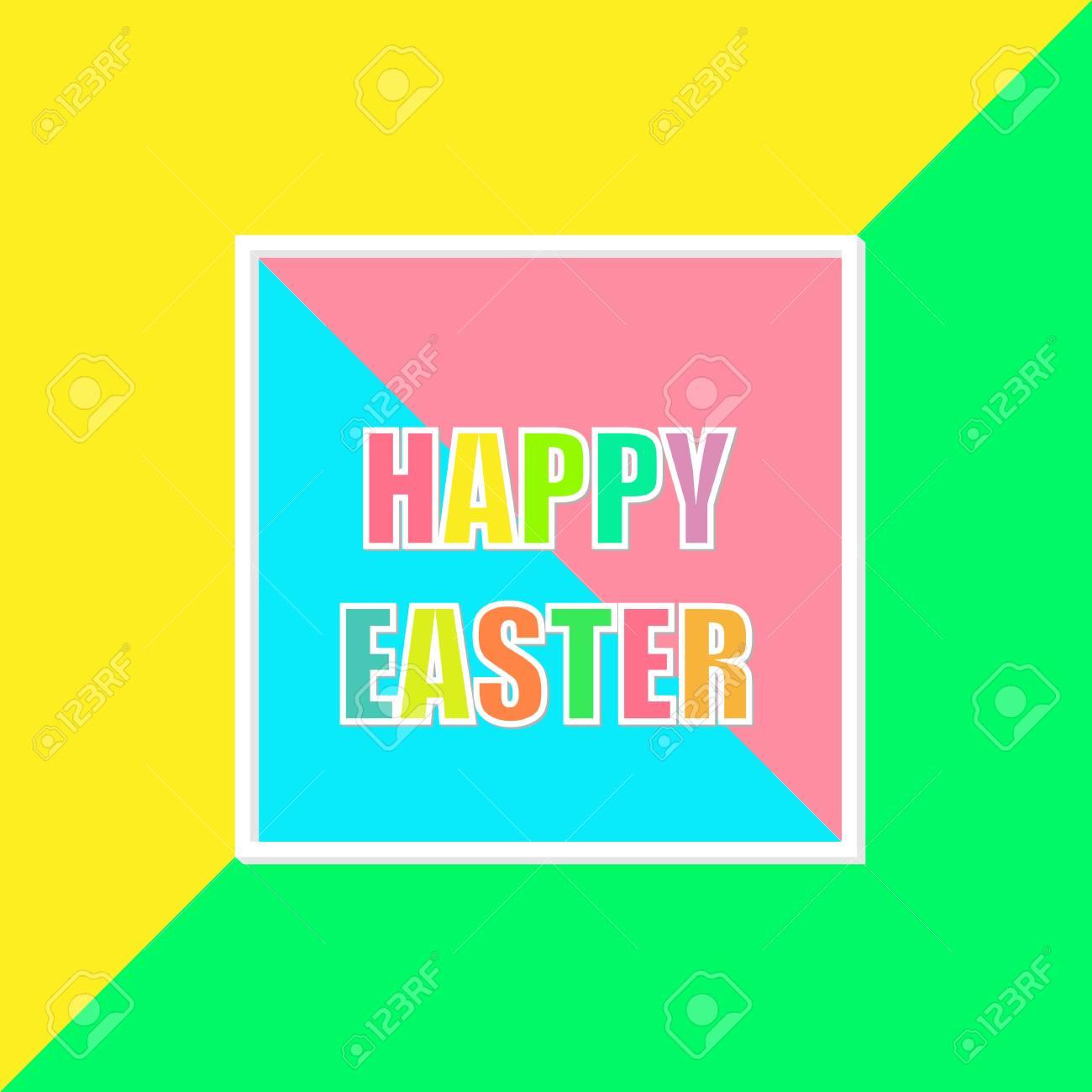 Feliz Fondo Colorido Mosaico De Pascua. Plantilla De Diseño De ...